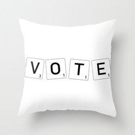 Vote - Scrabble letters Throw Pillow
