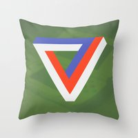 gaming Throw Pillows featuring Polygon Gaming by Thomas Official
