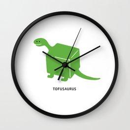 Tofusaurus Wall Clock