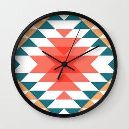 Aztec Rug 2 Wall Clock