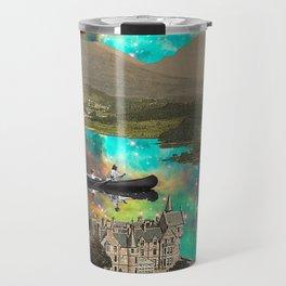 CANOEING IN THE NEBULA NEAR THE CASTLE Travel Mug