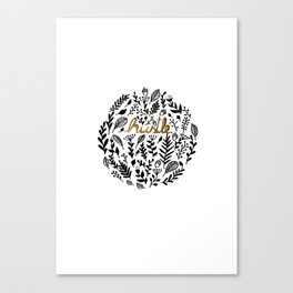 Hustle Canvas Print