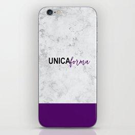 Unica Purple iPhone Skin