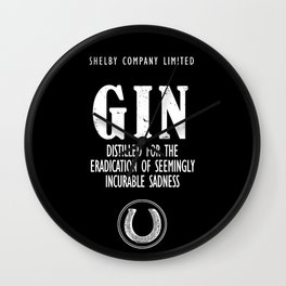 Gin The Eradication of Sadness Wall Clock