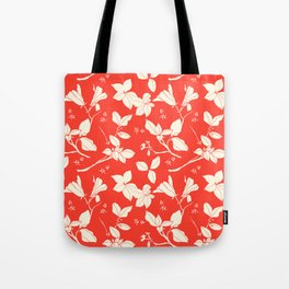 Drawings from Stonecrop Garden, Pattern in Red Tote Bag