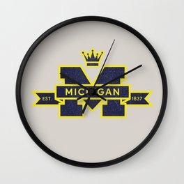 Michigan Block M Retro & Vintage Wall Clock