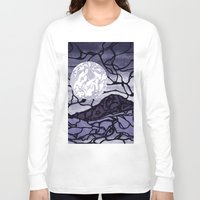 cracked Long Sleeve T-shirts featuring Cracked by Mel Moongazer