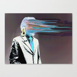 NO ONE AROUND HERE HAS THE GUTS INVERT Canvas Print