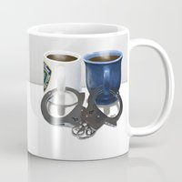 writer Mugs featuring Writer and Detective  by Edite Kirse