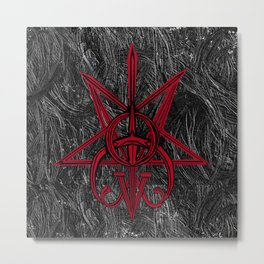 Sigil Lucifer, Satan and Clavicula Nox Metal Print