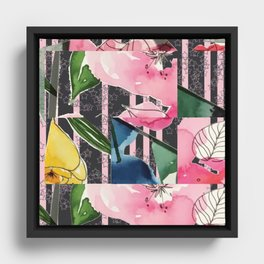 Floral Clash Framed Canvas