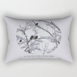 depth of winter Rectangular Pillow