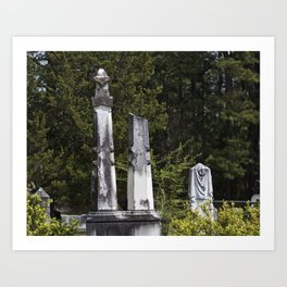 Cemetery Stone Art Print