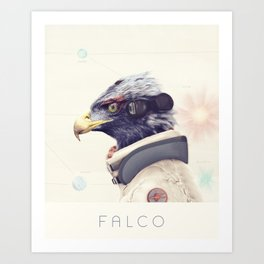 Star Team - Falco Art Print