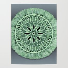 Mint Green 3D Faux Embroidery Poster
