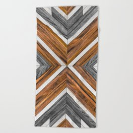 Urban Tribal Pattern 4 - Wood Beach Towel