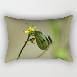 Green Winged Fairy Butterfly Rectangular Pillow