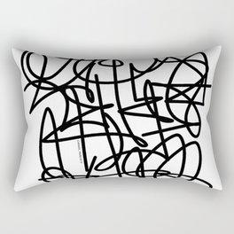 Escritura abstracta Rectangular Pillow