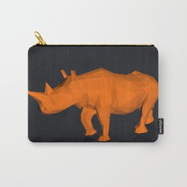 Rhino low poly style Carry-All Pouch