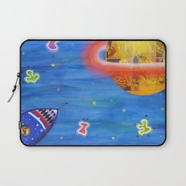 Space Rocket Planet Aliens and Shooting Stars Laptop Sleeve