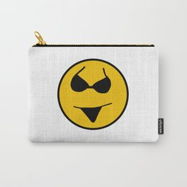 Smiley Bikini Have a Nice Beach Day Carry-All Pouch