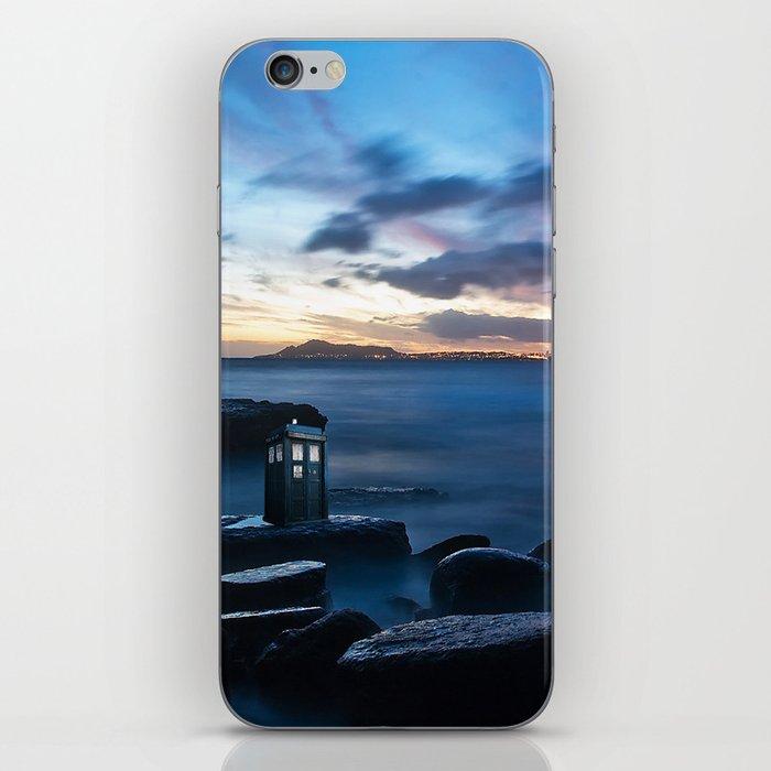 Tardis On The Sea Stone iPhone Skin