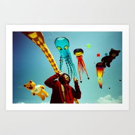 DUDI AND ALL HIS FRIENDS Art Print