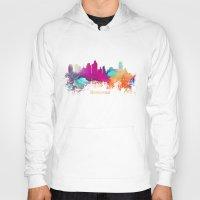 minneapolis Hoodies featuring Minneapolis skyline watercolor by jbjart