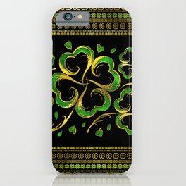 Irish Shamrock Four-leaf Lucky Clover iPhone Case
