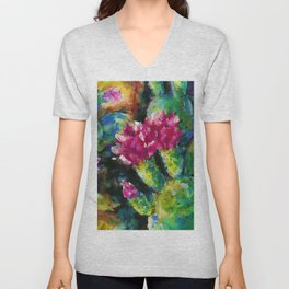 Desert Blooms by Kathy Morton Stanion Unisex V-Neck