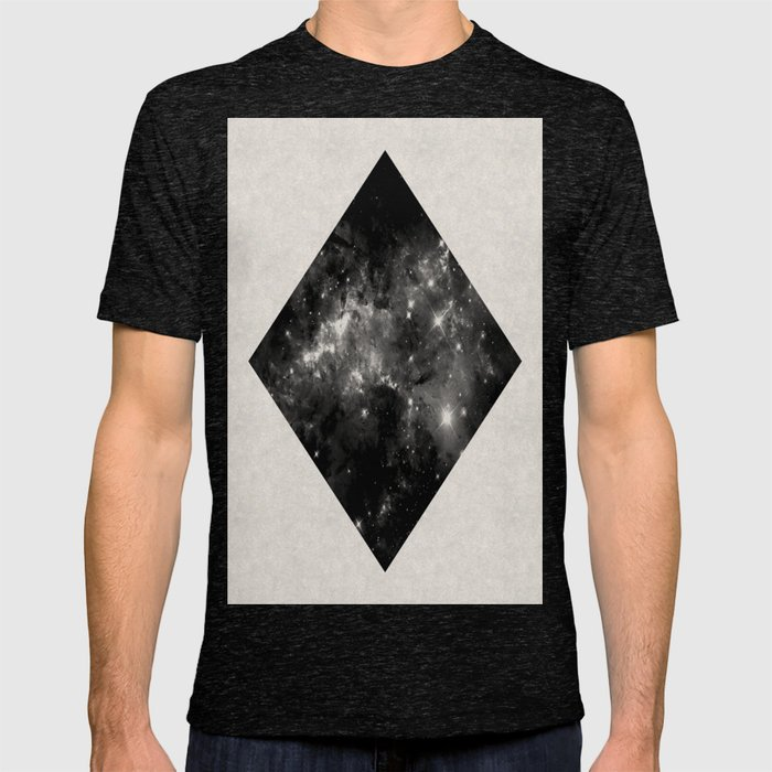 b702fabaa Space Diamond - Abstract, geometric space scene in black and white T-shirt  by printpix | Society6