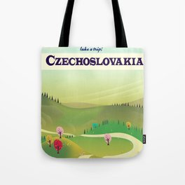 czechoslovakia travel poster Tote Bag