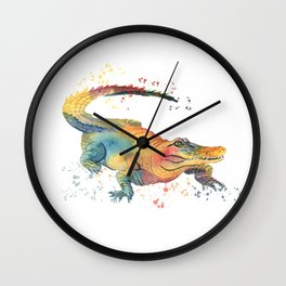 Colorful Alligator  Wall Clock