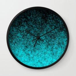 Blue Black Atmosphere Wall Clock