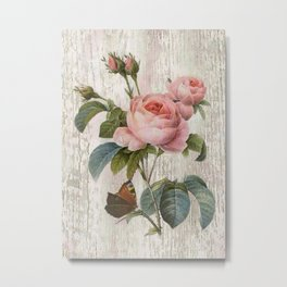 Roses Nostalgie Metal Print
