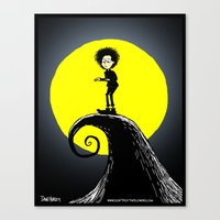 tim burton Canvas Prints featuring Tim Burton by David Hurley