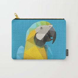 Low Poly Blue and Gold Macaw Carry-All Pouch