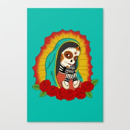 Virgin de Guadalupe Sugar Skull Canvas Print
