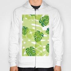 green monstera jungle Hoody