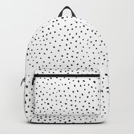 Dotted White & Black Backpack