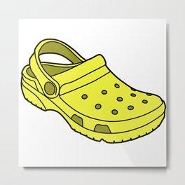 Crocs Metal Print