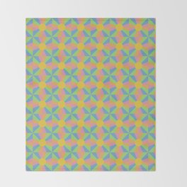 Vibrant Psychedelic Pattern Throw Blanket