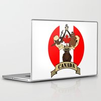 canada Laptop & iPad Skins featuring CANADA by scarah