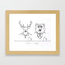 Mean Muggin' Framed Art Print
