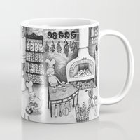 baking Mugs featuring Baking Cats by Ulrika Kestere