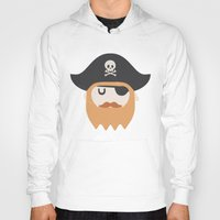 pirate Hoodies featuring Pirate by Beardy Graphics