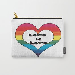 Love is Love LGBT Pride Heart Design Carry-All Pouch
