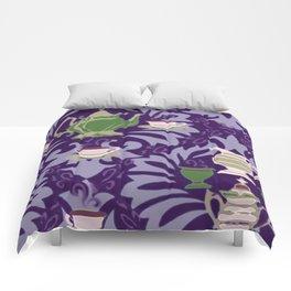 Victorian Tea Extra Large Set Purple by Lorloves Design Comforters