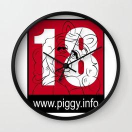 Piggy 18 Wall Clock