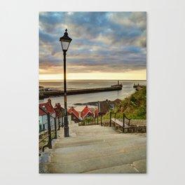 Whitby Sun Set Canvas Print
